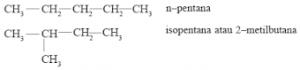 Contoh isomer rangka
