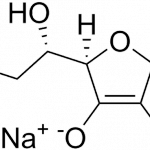 Struktur kimia (+) natrium -L-askorbat