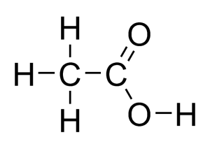 Asam asetat juga dikenal sebagai asam etanoat